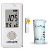 Accu Sure Gold Blood Glucose Monitor With 25 Strips Combo