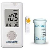 Accu Sure Gold Blood Glucose Monitor With 50 Strips Combo