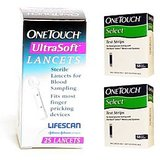 One Touch Select 100 Test Strip With 25 Lancet Combo