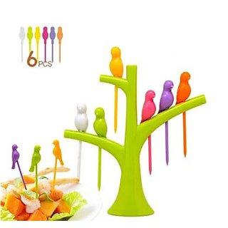 Bird Fruit fork Birdie Fruit fork with stand kids special fruit fork gift
