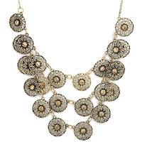 The Pari Antique Gold Necklace with Zinc Alloy - TPNW13-236