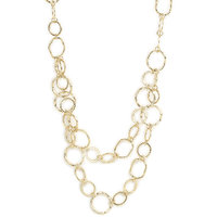 Golden Necklace with Zinc Alloy - TPNW13-217