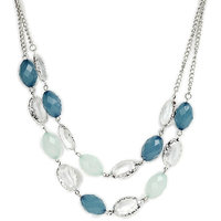 Blue Multi Colour Necklace with Zinc Alloy - TPNW13-225