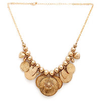 The Pari Gold Plated Gold Alloy, Zinc Necklace Set For Women