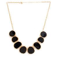 Black Necklace with Enamel, Zinc Alloy - TPNW13-242
