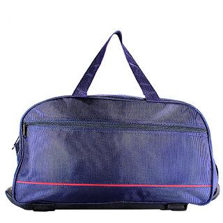 3G Blue Polyester Duffle Bag(2 Wheels)