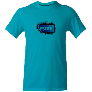 Export Men's Cotton T-Shirt Aqua Blue