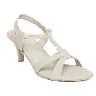 Vendoz Women Cream Kitten Heels