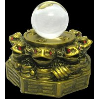 Fanf Shui / Vastu / 8 Set Toad / Frogg With Coin For Good Luck And Prosperity