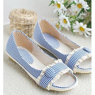 Hi Fashion Cloth Sandal Blue With Checks Print...sunday Flea Offer