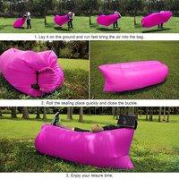 Inflatable Sofa Air Sofa Sleep Bed Camping Hiking Beach Tool Outdoor Activities Air Bag Portable Beach Bag Bag Camping B