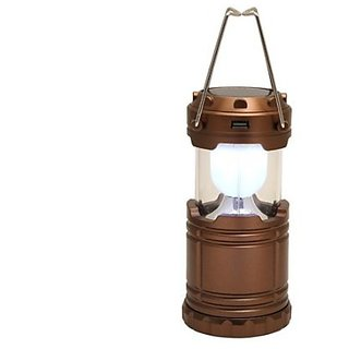 Solar Powered LED Rechargeable Lantern with three way power option - Solar Power or AABatteries or AC Power. Emergency