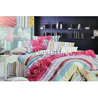 Valtellina Classic With Lining Print Double Bed Sheet (MU-005)