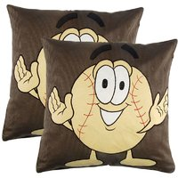 Manpho Tennis Ball Embroidery Kids Cushion Cover Set Of 2