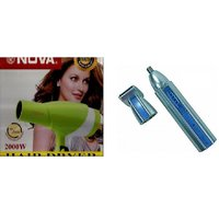 Combo Of Professional Hair Dryer-2000W With NOSE & EAR Hair Trimmer Rechargeable