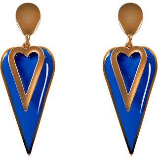 CLEO Funky Blue Hearts Danglers