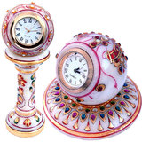 Buy Gold Paint Marble Clock & Get Round Clock Free