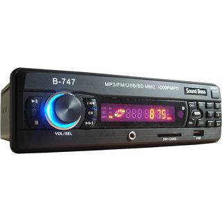 Soundboss+Sb-747+Car Mp3 Player + Black