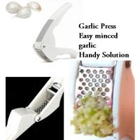 Steel Garlic Ginger Press Clamp Crusher Daily Kitchen Gadget Tool