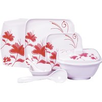 Diamond Crockery 34 Pcs Dinner Set - Flower Attarnia Pink
