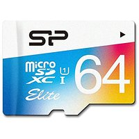 Silicon Power 64GB Up to 85MB/S Microsdhc UHS-1 Class10, Elite Flash memory Card with Adaptor (SP064GBSTXBU1V20AE)