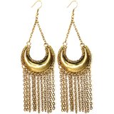 Metal Alloy Antique Gold Color Beautiful Chain Style Earring