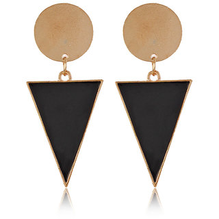 Cinderella Black Triangle Drop Earrings