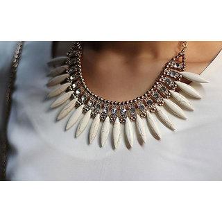 Cinderella Stylish White Statement Necklace Option 1