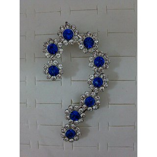 Cinderella  Blue Crystal Ear Cuff