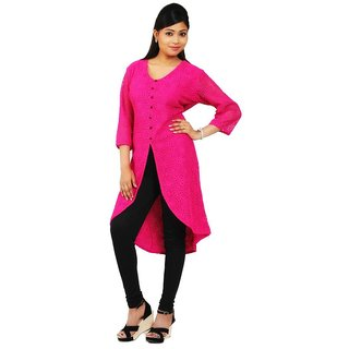 PARTY WEAR  PINK KURTIS