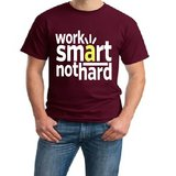 Smart Work Print Round Neck T-shirt