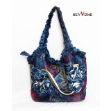 Sevvone Exclusive Blue Flower Designe Handbag