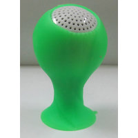Callmate Mini World Cup Speaker With Silicon Sucker Holder - Green