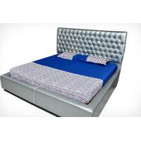 SleepSmart Blue Printed Designer Bedsheet With Pillow Covers