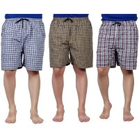 RR Accessories Cotton Checkered Men's Boxer(Pack of 3)