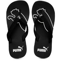 Puma Mens Black & White Flip Flops