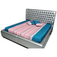 SleepSmart  Blue & Pink  Printed Designer Bedsheet With Pillow Covers