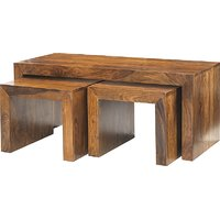 Wooden Nest Of Table (Set Of 3)LE-500055