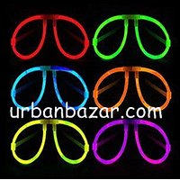 Neon Glow Eyeglasses / Goggles - (Pack Of 6pcs) - Perfect Gift New Year