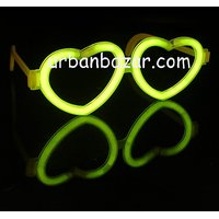 Neon Glow Heart Shape Eyeglasses / Goggles -(Pack Of 2pcs) Perfect Gift New Year