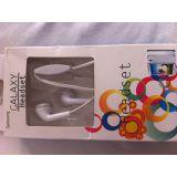 WHITE EARPHONE HANDSFREE  FOR SAMSUNG GALAXY PHONES