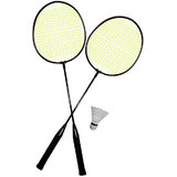 Badminton Rackets Set Of 2 With Shuttlecock