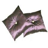 Wooden Button Cushion Purple(2 Pcs Set) With Fillings