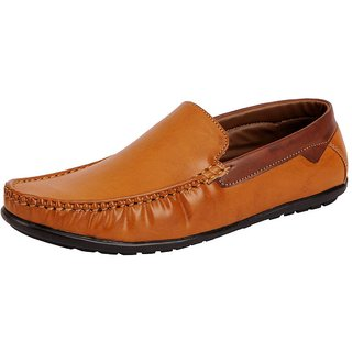 Fausto Men Tan Lace-Up Casual Shoes
