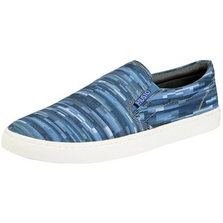 Fausto Men Blue Lace-Up Casual Shoes