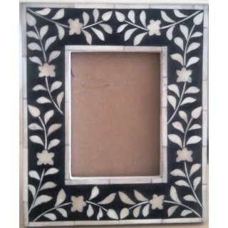 Wooden frame with bone inlay work