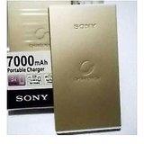 Sony 7000 MAh USB Power Bank External Battery Charger-Golden