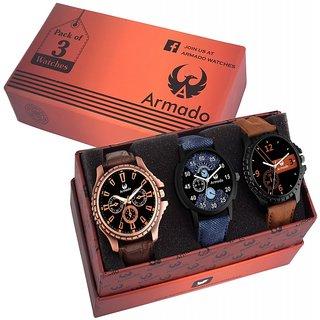 Armado AR-811261 Gents Superior Combo Modish Analog Watch