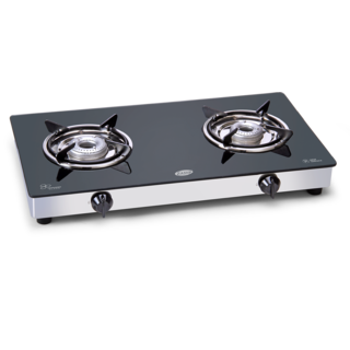 Glen 1020 GT 2 Burner Glass Manual Gas Stove