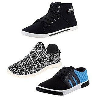 Earton Men Canvas Combo Pack Of 3 Casual Shoes (Sneakers)